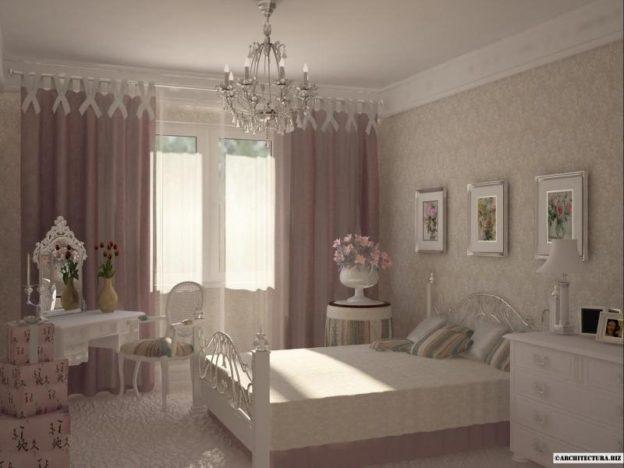 интерьер спальни в стиле прованс квартира